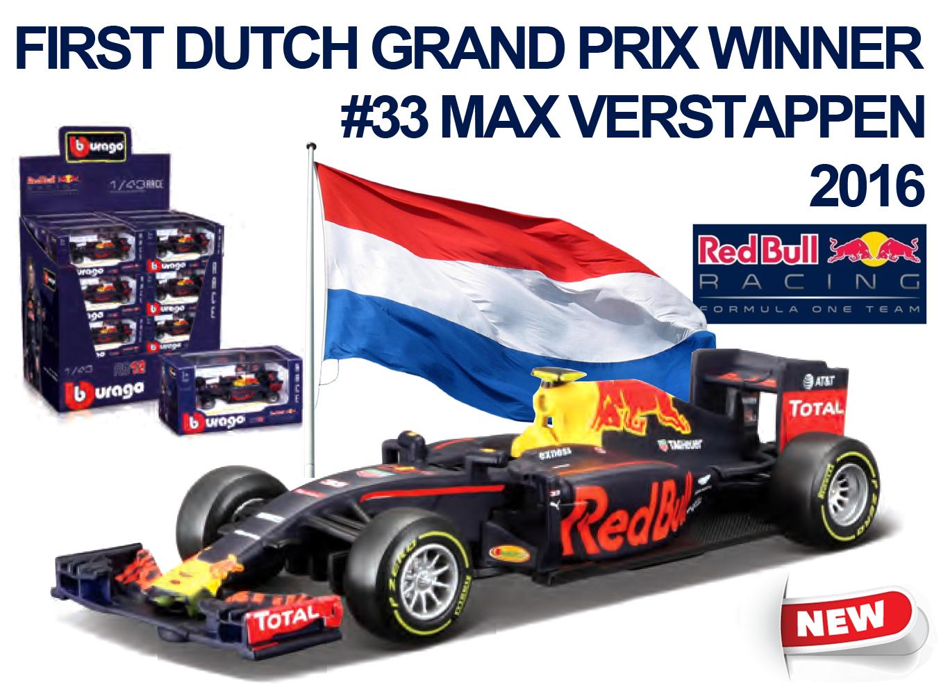 Burago Red Bull Rb 12 2016 Max Verstappen 1 43