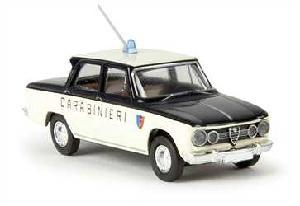 Brekina Alfa Romeo Giulia Super Carabinieri Wit/Blauw 1:87