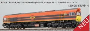 Esu Diesellok Class 66 Rotterdam Railfeeding 2 561-05 AC/DC Digitaal Sound