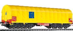 Liliput Coilwagen 6-assen + huif geel