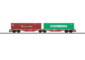Marklin Dubbele Containerwagen DB Cargo