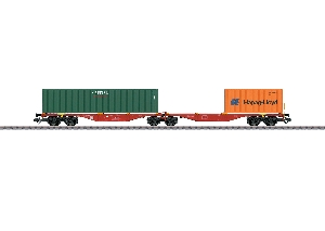 Marklin Dubbele Containerwagen-Capital/Hapag-Lloyd