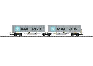 Marklin Dubbele Containerwagen - MAERSK