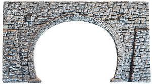 """Noch Tunnelpotral """"Bruchsteinmauer"""" H0 Dubbelspoor"""