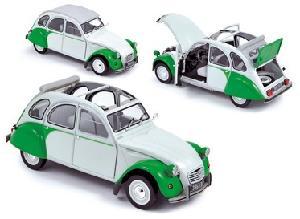 Norev Citroen 2CV Dolly wit /groen 1:18
