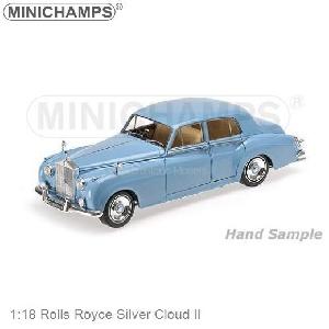 Minichamps Rolls Royce Silver Cloud II Blauw  1:18