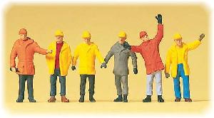 Preiser Arbeiders in werkkleding