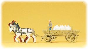 Preiser Molenaarswagen met balen