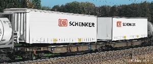 Roco Container draagwagen DB Schenker