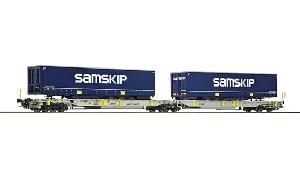 "Roco Dubbele Containerdraagwagen ""Samskip"" H0"