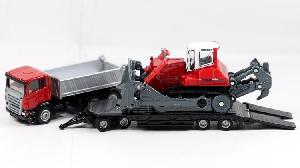 Siku Kiepwagen met dieplader en bulldozer