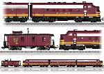 Marklin Diesellok F7 met Caboose - SOO Line
