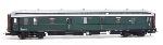 Artitec Postwagen  P 7012, groen, zilver dak, IIa-b