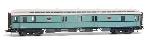 Artitec Postwagen  P 7017, turquoise, wit dak, IIIa