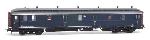 Artitec Postwagen  P 7903, blauw, grijs dak, IIIb-c