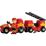 Brio Brandweer auto met ladderwagen