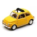 Burago Fiat 500 L Geel 1:24