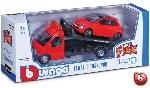 Burago Fiat 500 op Transport  1:43