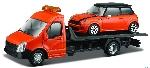 Burago Mini Cooper op Transport 1:43