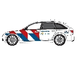 Herpa Audi A6 Avant Politie NL Nieuwe Striping