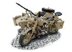 Italeri German Military Motorcycle with Sidecar 1:9