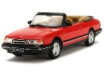 Ixo Saab 900 Cabrio Monte Carlo Rood  1991  1:43
