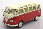 KK Scale VW Bus T1 Samba rood-wit  1:18