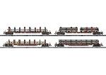 Marklin Staaltransport met 4 Rongenwagens