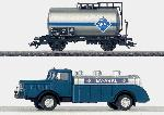 Marklin DB Tankwagen Aral met Vrachtwagen