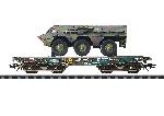 Marklin Platte wagen met pantservoertuig