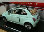 Motomax Fiat 500 Nuova Cabrio 1:18