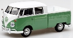 Motormax VW Bus T1 Pick Up dubbele cabine Groen 1:24