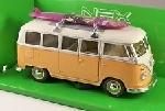 Welly VW T1 Bus 1963 Met Surfplank  1:24