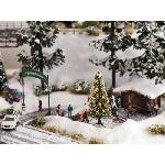 Noch Kerstboom met licht en kerstman 1:87