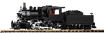 Piko G-Dampflokomotive mit Tender Mogul undekoriert