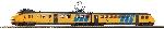 Piko N-Elektrotriebwg. Hondekop gelb drittes Spitzenl. IV-V