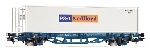 Piko Platte Wagen met 40 Ft P&O-Nedlloyd container  H0