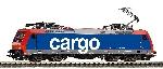 Piko ~E-Lok BR 482 SBB CargoVI, 4 Pantos + lastg.Dec.