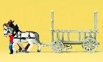 Preiser Paard en Wagen  N