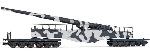Rivarossi Railway Gun K5 , H0