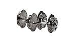 Roco Radsatz H0 AC 9mm            1 Paar