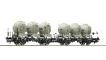 Roco Dubbele Goederenwagen Cement grondstoffen  H0