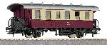 Roco 2e Klasse wagon DR Rood/Beige