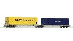 Roco dubbele Containerwagen  Ho