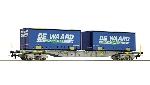 """Roco Container draagwagen """"De Waard """"  H0"""