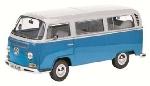 Schuco VW T2a L Bus Lichtblauw Wit  1:18