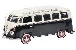 Schuco VW T1 Samba Zwart / Wit 1:43