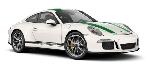 Schuco Porsche 911 R Wit Groen  1:87