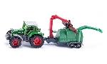 Siku Tractor met houtversnipperaar