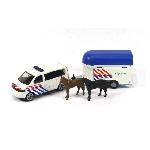 Siku VW transporter met politie paardentrailer
